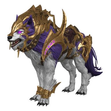 [탈 것] 금빛 전투 갑옷 늑대